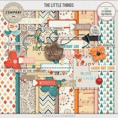 The Little Things #scrapbook #digiscrap Custom Photo Albums, Personalized Photo Albums, Finding Joy, Little Things, Laugh Out Loud, Passion For Fashion, Digital Scrapbooking, Great Gifts, Canvas Prints
