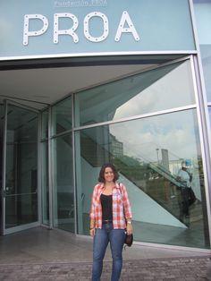 Rocio, art fan, enjoying the experience!