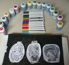 Porselein-beschilderen-schilderen-diy-9 Beach Crafts, Diy And Crafts, Crafts For Kids, Dot Painting, Ceramic Painting, Plate Drawing, Blond Amsterdam, Posca, Ceramic Clay