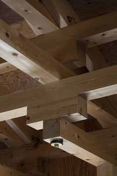 Recurring Pattern of tiered ceiling in boxing hall