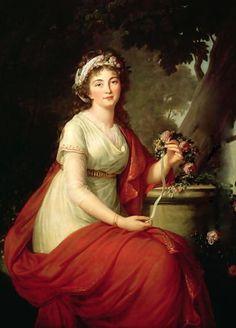 A portrait of Countess Tatyana Yusupova by Elisabeth Vigee-Lebrun, 1797.