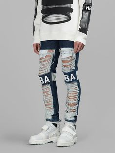 S15WP7 Shredded Jeans, Hood By Air, High Fashion, Mens Fashion, Destroyed Jeans, Ss 15, Denim Men, Street Wear, New York