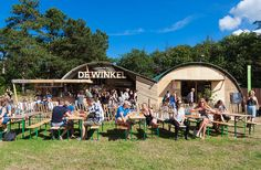 For the Into the Great Wide Open festival we created a down to earth 'pioneer' look & feel, adding as little as possible to the already beautiful festival terrain – the island of Vlieland.