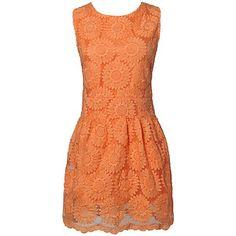 Orange 2013 New Women Summer Stereo Flower Sleeveless Pure C... - Polyvore