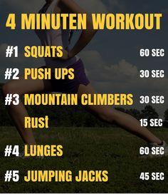 4 Minuten workout voor maximale vetverbrading