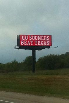 OU - All Sooners LOVE this sign!