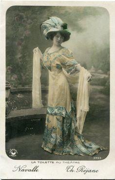 Vintage French RPPC Postcard Artist Stage Star Miss Navalle H Manuel | eBay