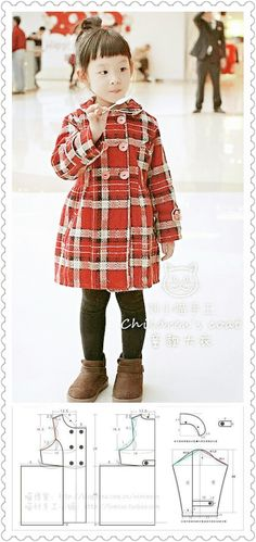 Dress-coat pattern for girls.