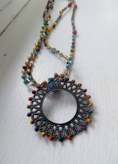 The Circle of Color Crochet Necklace by FleasKnees on Etsy, $22.00