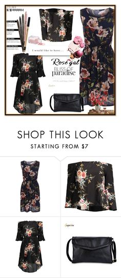 """II-Rosegal style 69"" by merryyyyy-132 ❤ liked on Polyvore featuring dress, sandals, bag and rosegal"
