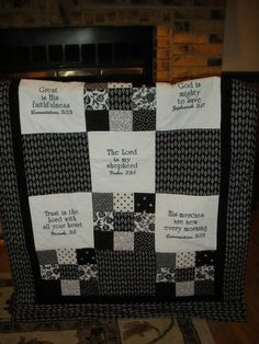 Scripture Quilt by ComfortQuiltsForLife on Etsy
