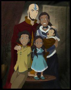 Aang and Katara's family