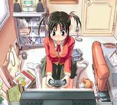 Tomboy-Anime-Girl-Playing-Video-Game.jpg (320×288)