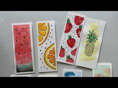 Watercolor Books, Watercolor Bookmarks, Watercolor Fruit, Watercolor Illustration, Simple Watercolor, Watercolor Paintings, Tattoo Watercolor, Watercolor Animals, Watercolor Techniques