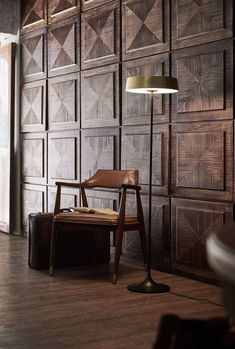 Shop China LED Floor Lamp by Seed Design. Pendants, Floor and Table Lamps are a simple way to enhance your home or office decor. Interior Modern, Interior Walls, Home Interior, Interior Architecture, Wall Cladding Interior, Brass Floor Lamp, Led Floor Lamp, Home Design, Design Ideas