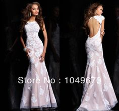 haute couture formal evening gowns | Haute Couture 2014 Cap Sleeves Lace Prom Dresses Mermaid Crystal Floor ...