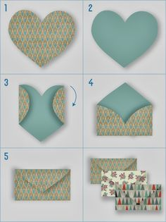 Origami for Everyone – From Beginner to Advanced – DIY Fan Diy And Crafts, Craft Projects, Crafts For Kids, Arts And Crafts, How To Make An Envelope, Diy Envelope, Heart Envelope, How To Make Envelopes, Small Envelopes