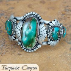 Navajo Native American Royston Turquoise Bracelet by Willeto