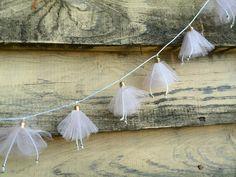 Flower garland Wedding decor Wedding gift Wall hanging decor Holiday decoration Kids garland For Her lace garland