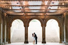 Bethesda Terrace Engagement | New York City, New York Photographer by Michelle Lange Photography