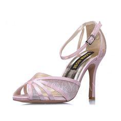 Zapatos - $78.75 - De mujer Zapatos de novia Sandalias Encaje Tacón stilettos Satén Zapatos (1625097190)