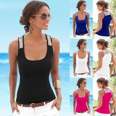 2016 Sexy Women Tank Top Sleeveless Sequins Splice Milk Silk Square Collar Fashion Vest