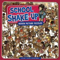 School Shake-Up by Jill Kalz. For ages 5-9. Are they crouching in the cafeteria? Curled around the computers? Bouncing inside the bus? All sorts of sneaky objects are hiding in these picture puzzles, and they don't want to be found. Look close and seek them out!