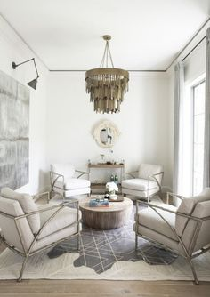 traditional elegant neutral living room, Dream Home - Fresh French Provincial by Kate Marker Interiors French Country Rug, French Country Living Room, French Country Decorating, Living Room Trends, Living Room Designs, Living Room Decor, Living Spaces, Living Rooms, House Rooms