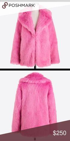 Faux fur Pink coat J Crew faux fur J. Crew Jackets & Coats