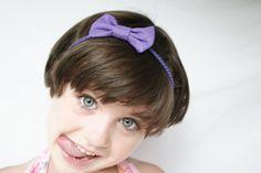 Glitter Purple Bow Headband, ready to ship
