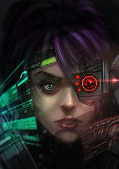Pilot by alecyl.★ We recommend Gift Shop: http://gosstudio.com ★ #Cyberpunk #Art #gosstudio