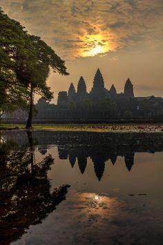 Sunrise at Angkor Wat, Cambodia