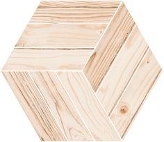 WORLD WOODS: Honeycomb Fremont Natural - 44'5x38cm.   Pavimento - Porcelánico   #VIVES #VIVESAzulejosyGresS.A.  #wooden #porcelain #tile
