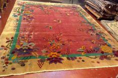 Antique-Art-Deco-Chinese-rug-9-x-11-6-274cm-x-353cm-1920-Teppich-tappeto