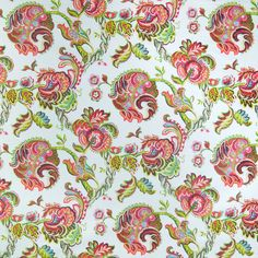 The G1137 Azalea upholstery fabric by KOVI Fabrics features Chintz, Floral pattern and Pink, Red as its colors. It is a Cotton, Made in USA, Print type of upholstery fabric and it is made of 100% Cotton material. It is rated Exceeds 9,000 double rubs (heavy duty) which makes this upholstery fabric ideal for residential, commercial and hospitality upholstery projects.For help please call 800-860-3105.