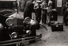 "WALKER  EVANS, London Street Scene, ca. 1950s, silver print, 8"" x 12"""