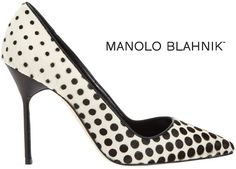 Manolo Blahnik Optic Dot-Print Dyed Calf Hair BB Pump - Buy Online - Designer Pumps