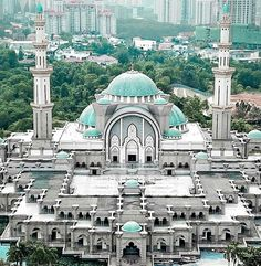 Masjid Wilayah Jln Duta mosque in Kualalumpur, Malaysia Mosque Architecture, Ancient Greek Architecture, Religious Architecture, Amazing Architecture, Art And Architecture, Islamic Images, Islamic Pictures, Islamic Art, Beautiful Mosques