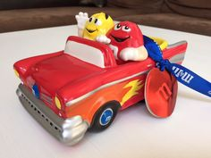 M M's Brand Galerie Ceramic Car Candy Dish Red Yellow 2002 | eBay