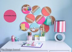 coole bastelideen pinnwand-teenager-zimmer-home-office cool crafting pin board teenage room home off Diy Crafts For Teens, Diy And Crafts Sewing, Easy Diy Crafts, Crafts To Sell, Fun Crafts, Recycled Crafts, Cork Tiles, Teenage Room, Ideias Diy