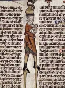 Babywearing in Europe. France. Decretals of Gregory IX with glossa ordinaria. Last quarter of the 13th century or 1st quarter of the 14th century.
