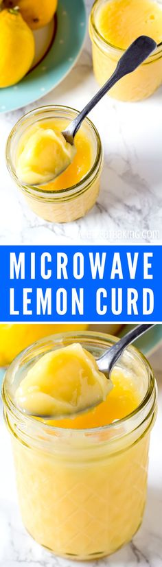 With this Homemade Microwave Lemon Curd recipe, you'll never need to buy lemon curd again. Made in the microwave with simple store-cupboard ingredient, this curd comes together in under 10 minutes. Microwave Lemon Curd, Microwave Cake, Microwave Recipes, Cooking Recipes, Lemon Curd Recipe, Lemon Recipes, Lemon Desserts, Jam Recipes, Sweet Desserts