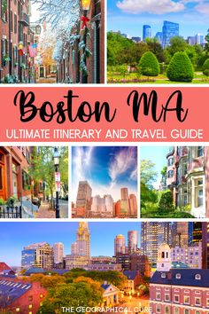 Planning a vacation in New England? Boston is likely on your bucket list. This is the ultimate guide to exploring Boston in 3 days. It takes you to Boston's must see sites and attractions, historic landmarks, and some hidden gems. This Boston itinerary covers everything you need to see, do, and eat in Boston. Boston has some great museums, fantastic eateries, and beautiful green spaces. Boston Destinations | Massachusetts Itineraries | What To Do In Boston | Boston Bucket List | Boston… Museum Guide, Boston Boston, Boston Things To Do, New England Travel, Boston Massachusetts, City Break, Culture Travel, Historical Sites, Amazing Nature