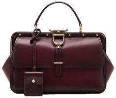 Gucci Lady Stirrup Top Handle Carminio Red Leather Bag