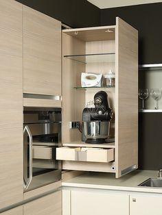 Bildergebnis für küche hochschrank ausziehbar | Küchenideen | Küche ...