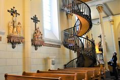 https://flic.kr/p/E5KENK | Stairway from Heaven | A Stairway from Heaven? Loretto Chapel Staircase [a winding choir loft staircase in the shape of a helix]. - Loretto Chapel in Downtown Santa Fe, New Mexico. Built in 1873.