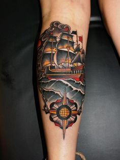 25 Amazing Masterful Pirate Tattoos - Meanings (Ship, Face, City, Skull...)                                                                                                                                                                                 More