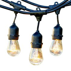 Newhouse Lighting 48 ft. 11-Watt Outdoor Weatherproof String Light with S14 Incandescent Light Bulbs Included-CSTRINGINC18 - The Home Depot