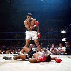 Here is a collection of historical photographs of the most iconic moments in sports we've witnessed.