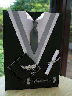 Elegante traje de graduado